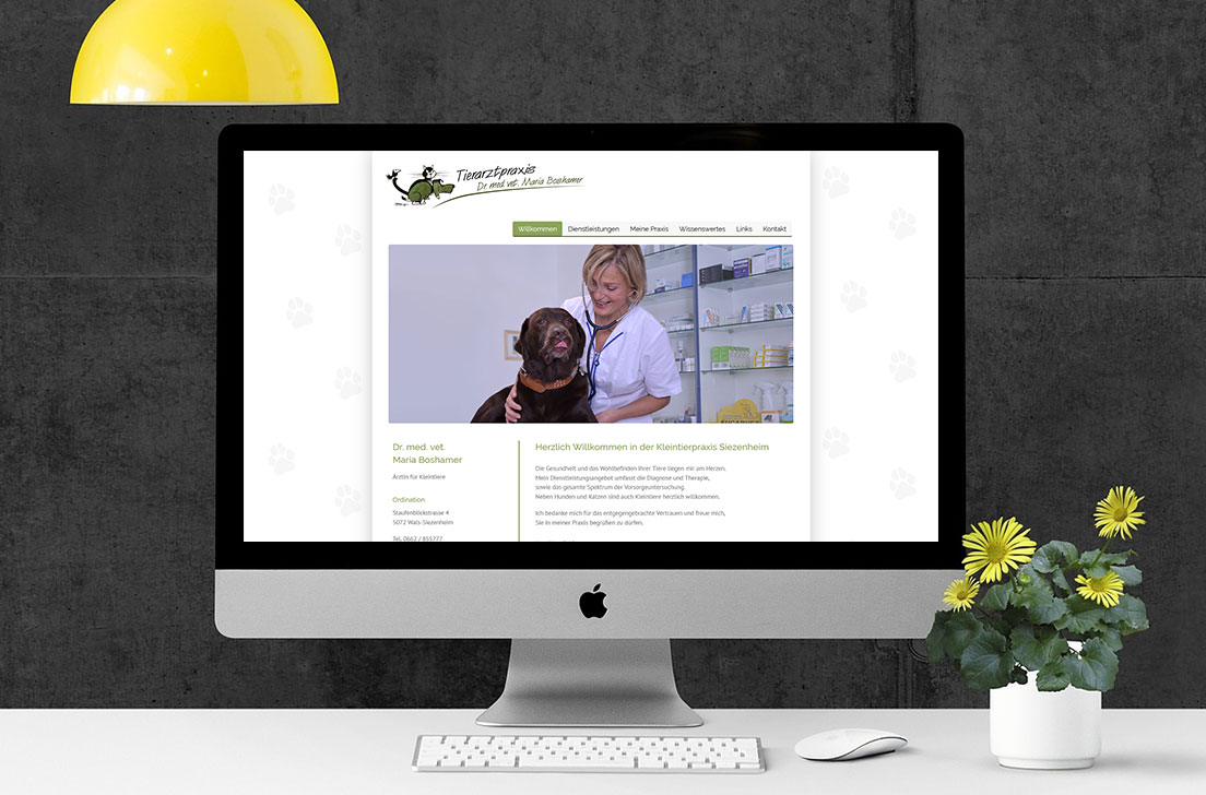 Referenz - Webseiten Relaunch Tierarztpraxis Maria Boshamer