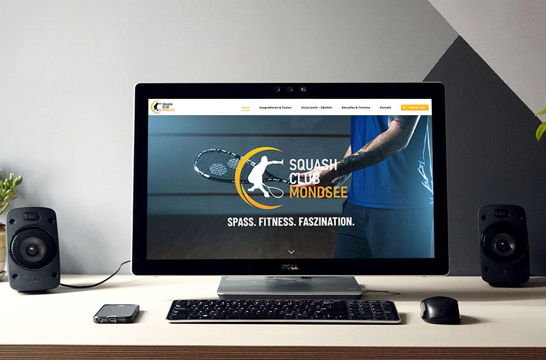 Referenz Homepage-Relaunch für den Squash Club Mondsee