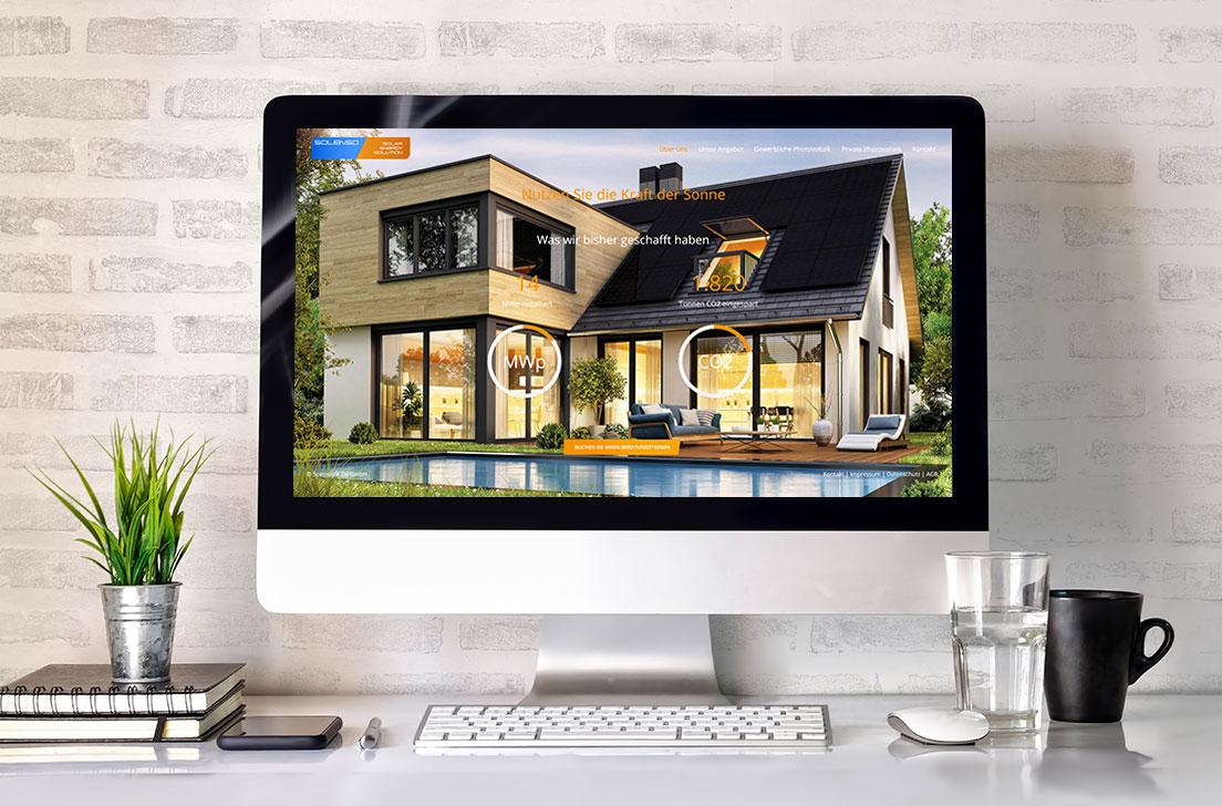 Referenz Webdesign für die Solenso & Co GmbH