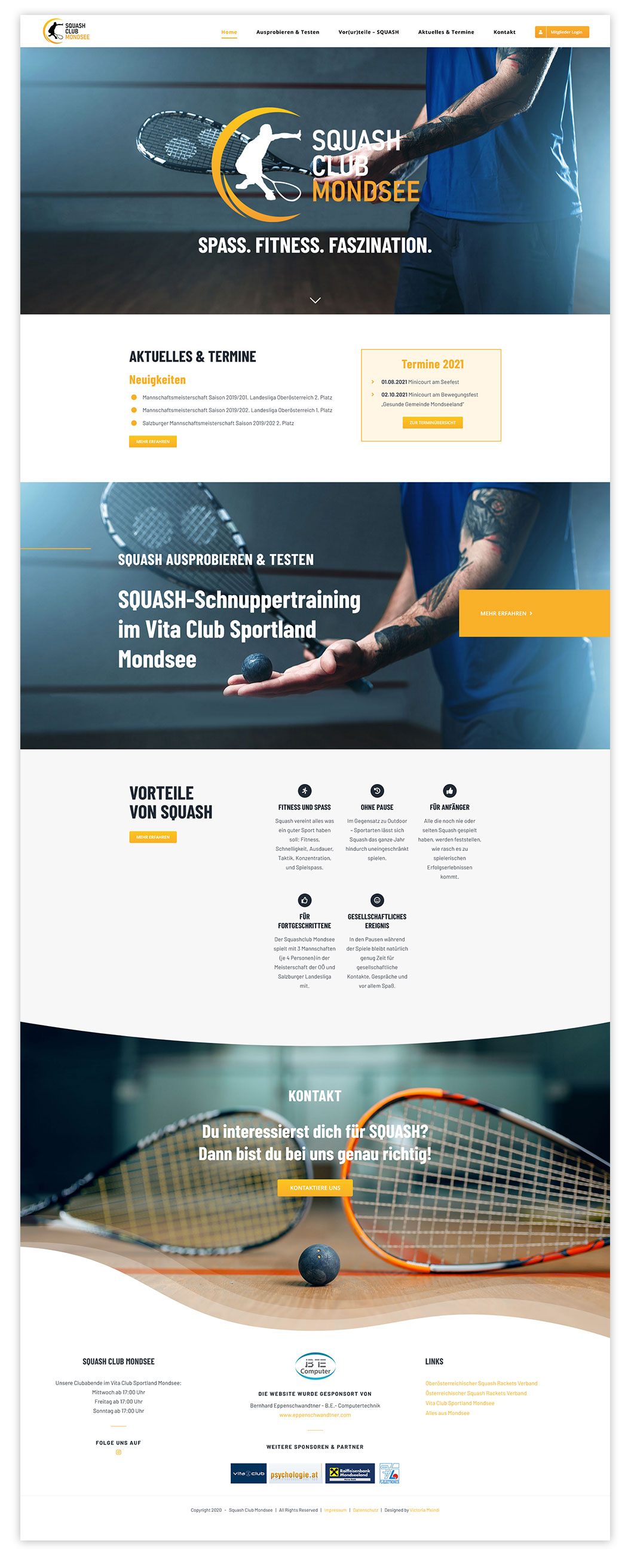 website mockup homepage squash-club-mondsee